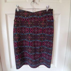 LuLaRoe Cassie Pencil Skirt Boho Pattern sz S NEW
